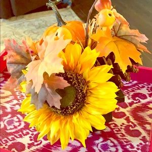 Other - Fall sunflower & pumpkin decor bouquet